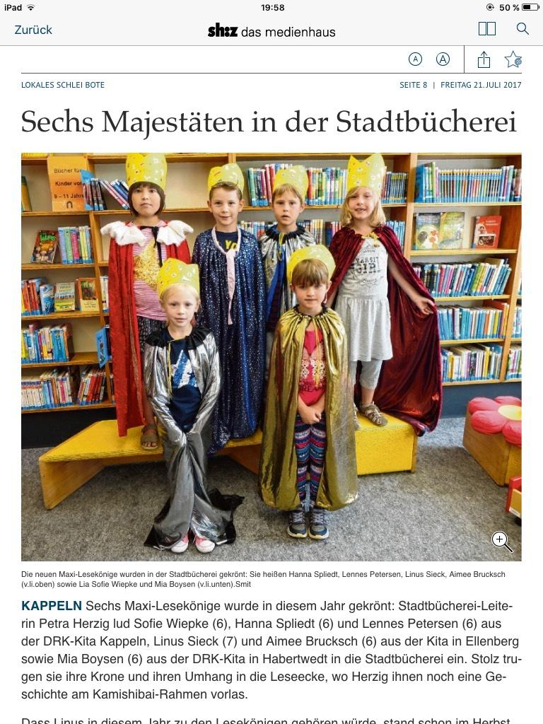 Artikel Lesekönige 2017